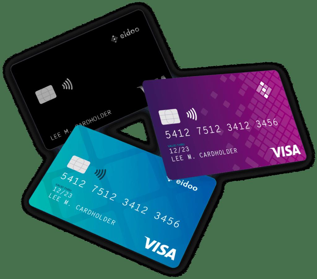 Tarjetas de débito de VISA creada por Eidoo