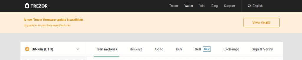Trezor presenta nueva actualización para su monedero respondiendo a la vulnerabilidad en SegWit