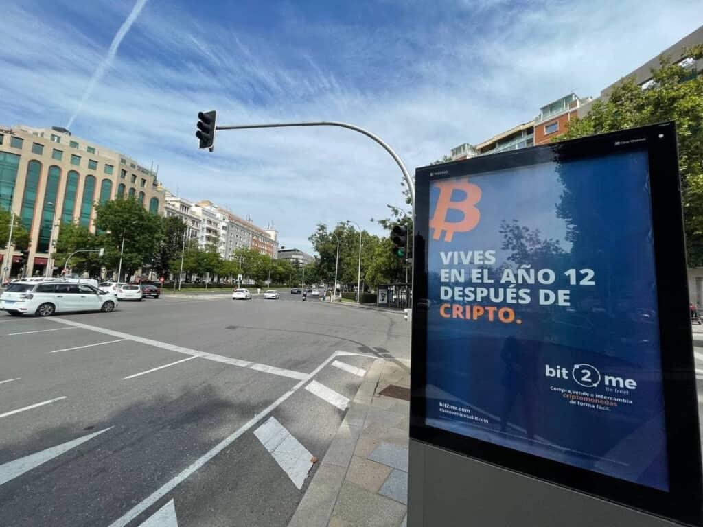 Bit2Me presente en las calles de Madrid para celebrar el éxito de su ICO